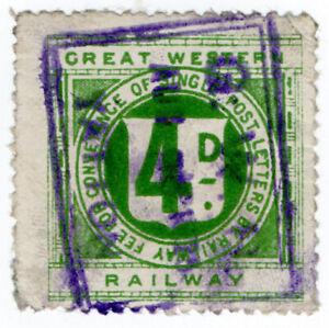 I-B-Great-Western-Railway-Letter-Stamp-4d-Yatton
