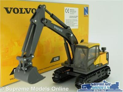 Volvo Ec140e Backhoe Model Excavator Digger 1:50-1:64 New Ray Construction K8 Mit Einem LangjäHrigen Ruf