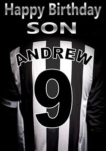 Grimsby town football fan personalised birthday card any name image is loading grimsby town football fan personalised birthday card any reheart Images