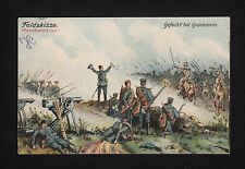 37713/ AK - 1. Weltkrieg - Feldskizze: Gefecht bei Gumbinnen - *