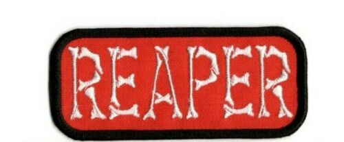 REAPER PATCH GRIM REAPER IRON ON TO SEW ON PATCH A5