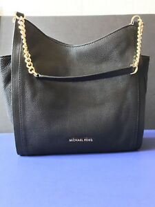 32a65ed66d60 Image is loading NWT-Michael-Kors-Newbury-Medium-Chain-Pebble-Leather-