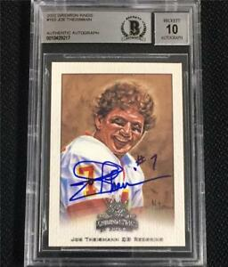 JOE-THEISMANN-signed-2002-Gridiron-Kings-REDSKINS-auto-card-BAS-BGS-10-Autograph
