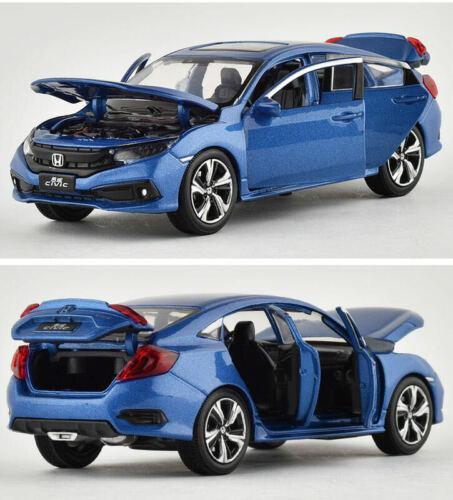 1:32 Honda Civic Diecast Alloy Sound/&Light Vehicle Car Model Kids Toy Gift Blue
