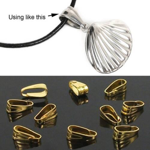 300 Pendant Clip Clasp Pinch Clip Bail Pendant Connectors Bail Jewelry Findings
