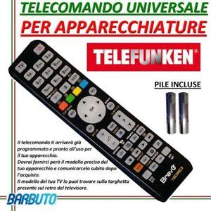 telecomando telefunken universale  TELECOMANDO UNIVERSALE PER TELEVISORI TELEFUNKEN MODELLO TE32847FB1 ...