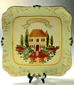 Image is loading Toscana -Certified-International-LARGE-SQUARE-16-034-SERVING- & Toscana Certified International LARGE SQUARE 16