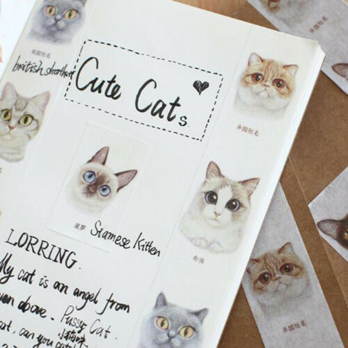 DIY Cartoon Tape Cat Series Hand Book Photo Album Adhensive Tapes Decor L