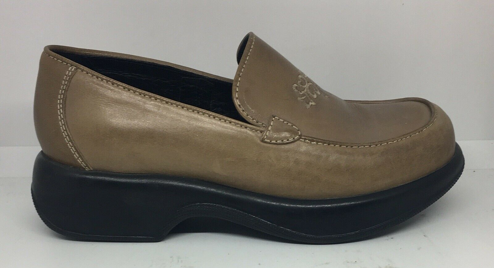 Dansko Women's Women's Women's Size 39 US 8.5-9 Beige Embroidered Leather Comfort Clog shoes 58b07a