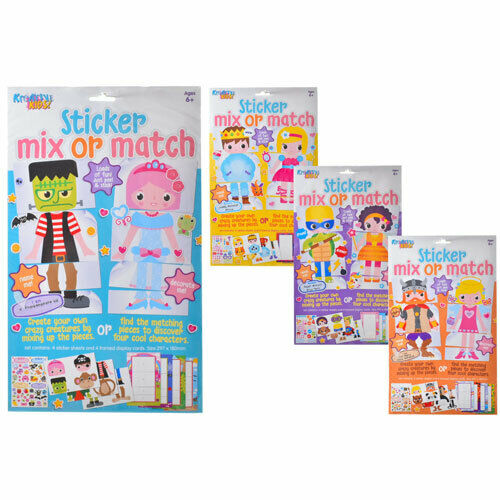 4 x Design to Choose Sticker Mix or Match Craft Pack make your own Fun Design