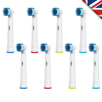 8 Pcs Heads For Braun Oral B Vitality 3D White Rechargeable Electric Toothbrush 636510115875 | eBay