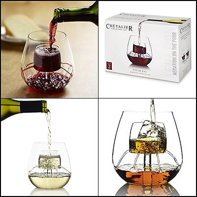 Chevalier Collection Sommelier Aerating Wine Glass 7 oz. Set of 2