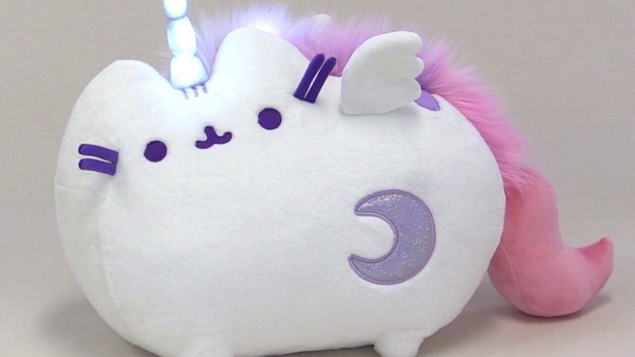 Gund Super Pusheenicorn Stuffed Pusheen Plush Sound & Lights Unicorn Animal  40