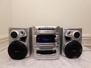 Image Is Loading Panasonic Bookshelf Stereo System SA AK18 CD Changer