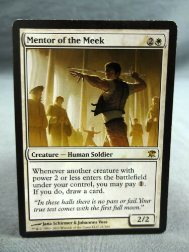 MTG Magic the Gathering Card X1 Mentor of the Meek Innistrad EX//NM