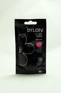 Dylon Permanent Fabric Dye 50g Pack of Three Velvet Black