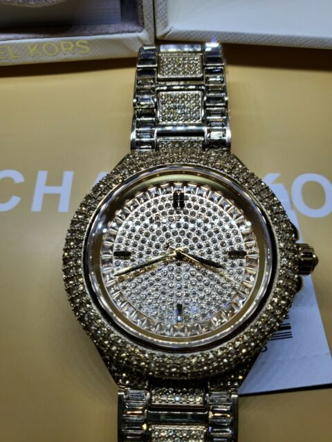 Michael Kors Women Camille Crystal Rose Tone Stainless Steel Watch MK5720