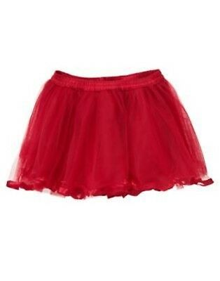 New Gymboree North Pole Party Red Leggings TUTU skirt Attached 0 3 6 12 18 24m
