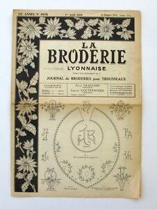 La Broderie Lyonnaise N°1058 - 1950 - Broderies Pour Trousseaux - Alphabet - Z9bciqxe-07163913-124565532