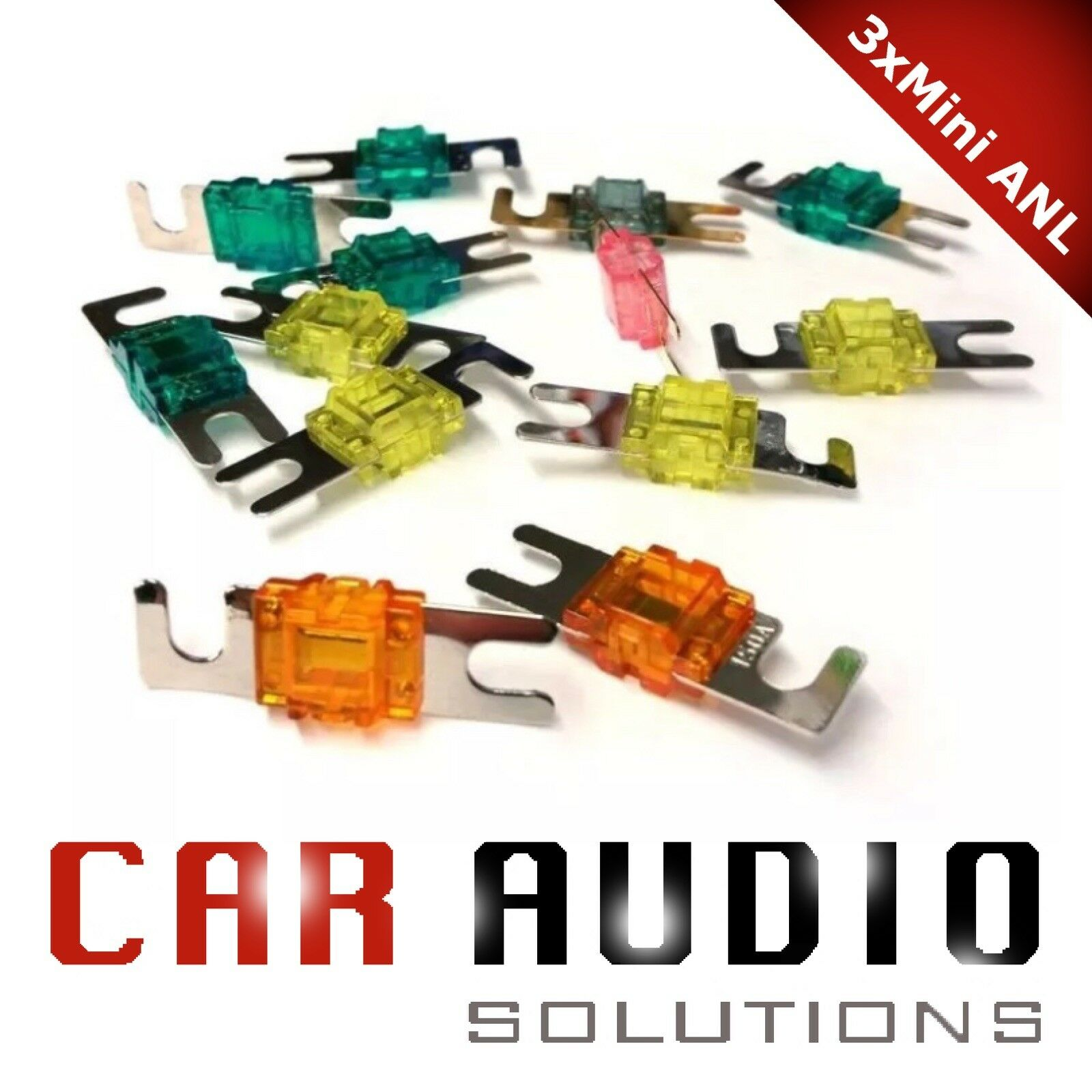 80 3 x MINI-ANL FUSE CAR AUDIO 20 60 100 and 150 AMP SUPERIOR FUSES !! 40