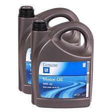 10W-40 2x5 Liter Motoröl Opel GM 1942046 10w40 Motor Öl ACEA A3/B3 API SL/CF 5L