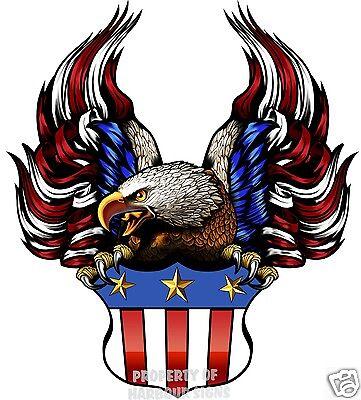 "American Flag RV Travel Trailer Truck Boat Contour Cut Vinyl Decal 24/"""