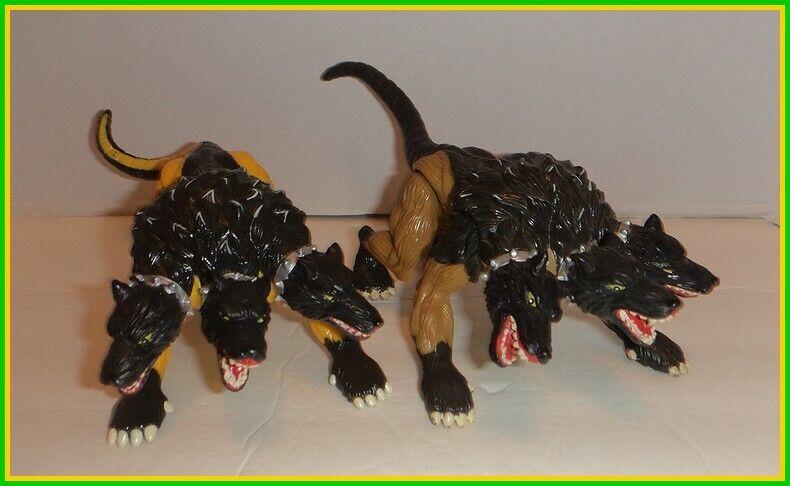 VINTAGE HERCULES LEGENDARY JOURNEYS - 6  CERBERUS LOT - Gelb Gold 3 Headed Dog