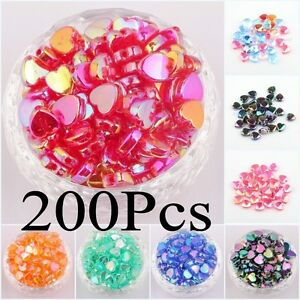200pcs-Heart-Shaped-Acrylic-Spacer-Beads-Charms-Making-Jewelry-AB-Color-8mm-9mm
