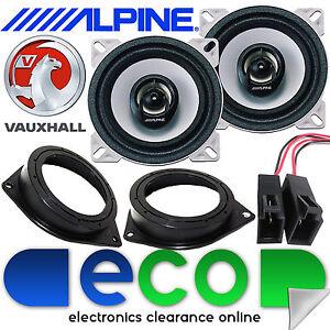 VAUXHALL-CORSA-D-06-14-Alpine-360-Watts-10cm-4-034-Rear-Side-Car-Speakers-Brackets