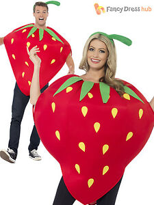 Adult-Strawberry-Costume-Food-Summer-Fruit-Red-Fancy-Dress-Costume-Party-Ladies