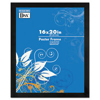Dax Black Solid Wood Poster Frames W/plastic Window Wide Profile 16 X 20 2863v2x on sale