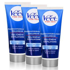 6x-Veet-for-Men-Enthaarungscreme-Rasieren-bedingt-im-Intimbereich-Achseln-200ml
