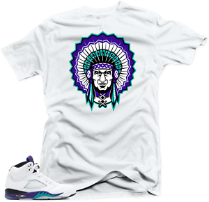 a0a347c7f61eb3 Shirt to Match Jordan 5 Grapes Fresh Prince Sneakers.Chief 5 White ...