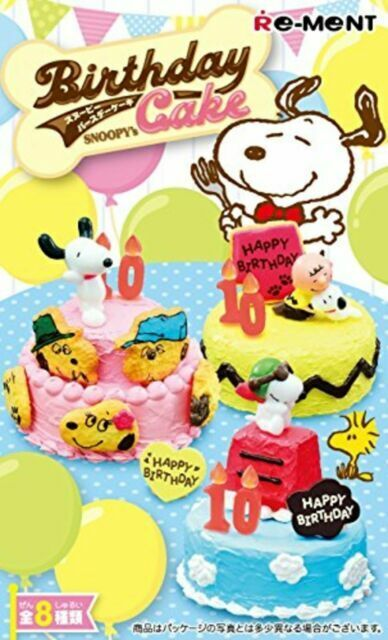 No.6 Re-ment Peanuts Snoopy/'s Party Cake Shop Birthday Cake