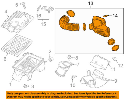 GM OEM Air Cleaner-to Intake Tube Duct Hose 22761486