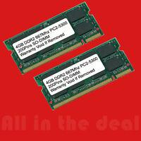 8gb Ddr2 667mhz Pc2 5300 256x8 (2x4gb) Sodimm Laptop Memory 8 Gb 667