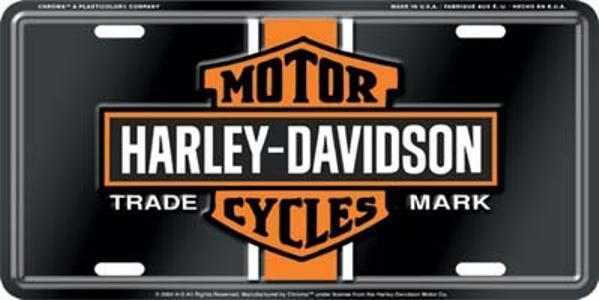 Harley Davidson Vintage Bar & Shield  Embossed Vanity Car License Plate Auto Tag