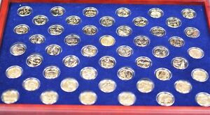 Complete State Quarters Collection Kt Gold Plated - Complete 50 state quarter set