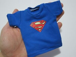 "1//6 Scale Tee Blue Short Sleeves T-Shirt Superman For 12/"" Action Figure"