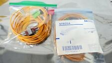 R163990 Lot 2 Hp M1605a Ecg Ekg Safety Cable Lead Sets
