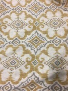 Goldenrod-Ikat-Geometric-Kantha-Covington-Fabric-by-the-yard-NEW
