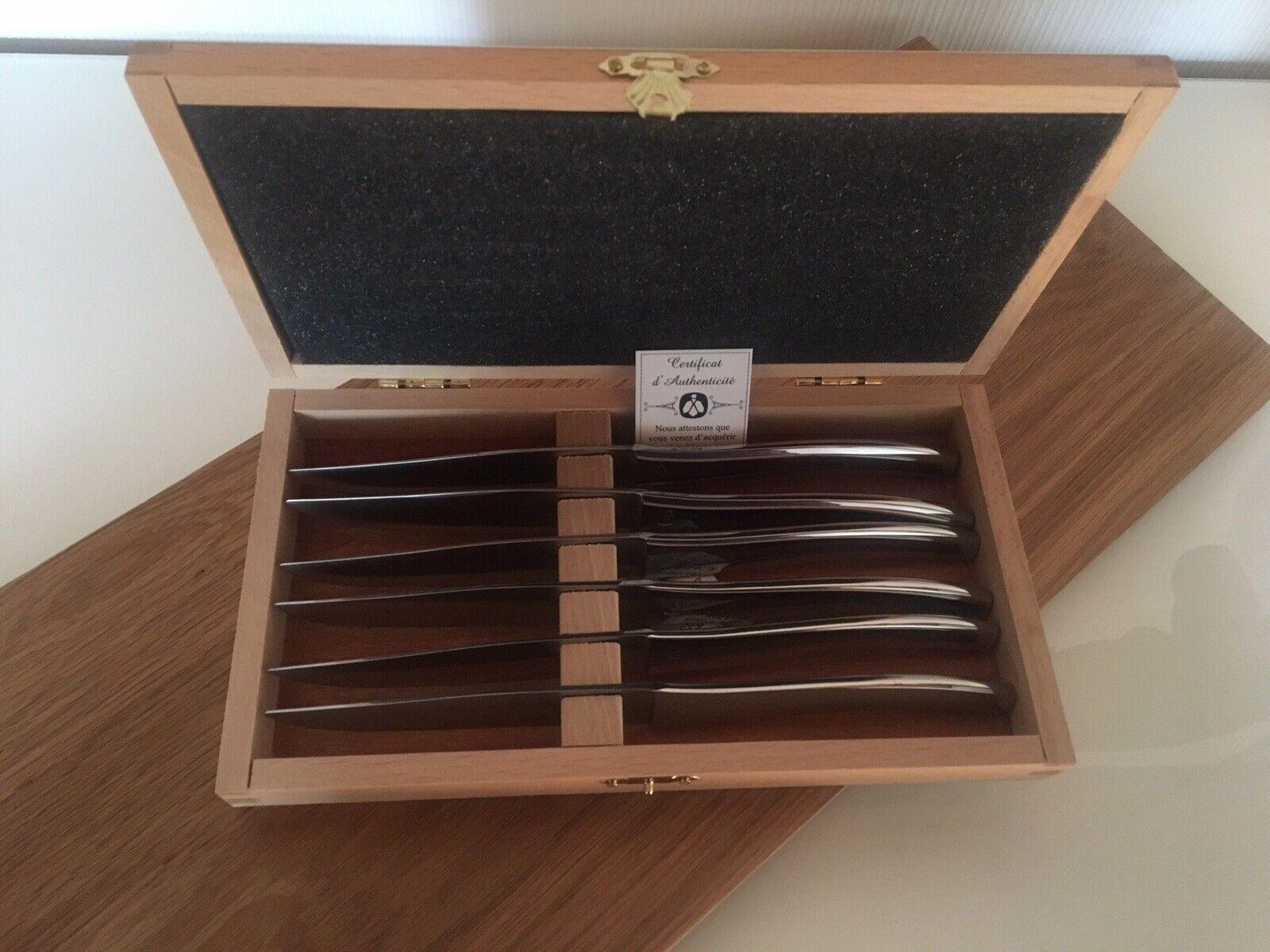 Laguiole 6 Steakmesser im Holzkasten