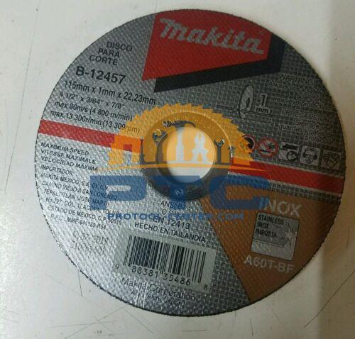 MAKITA B-12457 PACK OF 5 PZ CUT OFF WHEEL 4 1/2 X 3/64 X 7/8 INOX