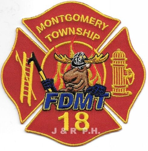 """Montgomery Twp - 18 4/"""" x 4/"""" size Pennsylvania fire patch"""