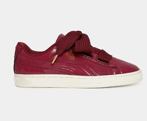 super popular ac424 42495 Details about Puma Women's basket heart patent 363073 05 Sz7-9 Tibetan Red  Fast Shipping L