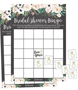 image is loading 25 rustic chalk pink flower bingo game cards