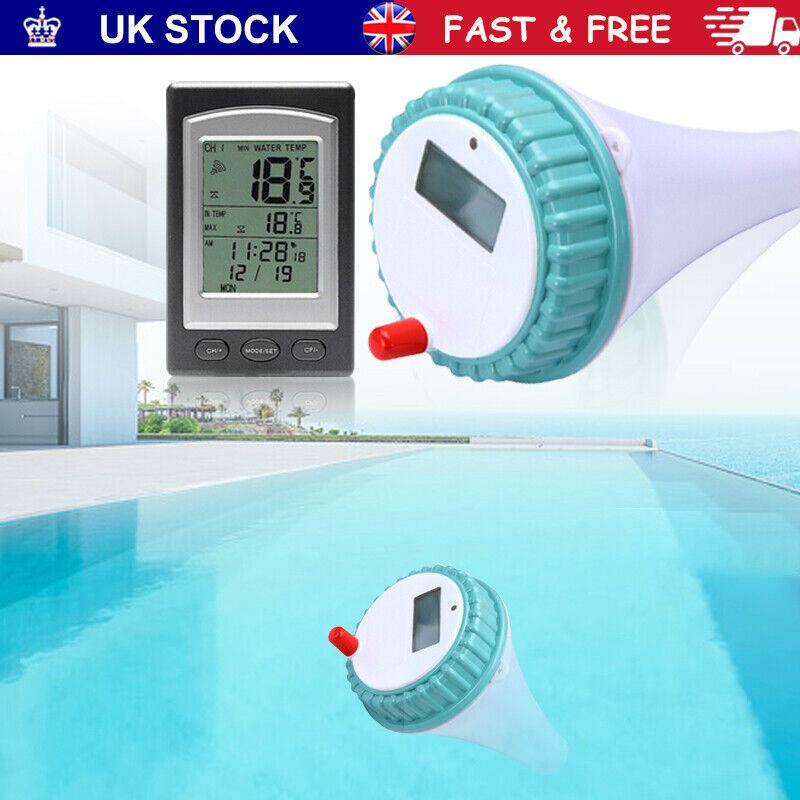 Floating Wireless Swimming Pool Thermometer Water Pond Spa Temperature Hot Tub~
