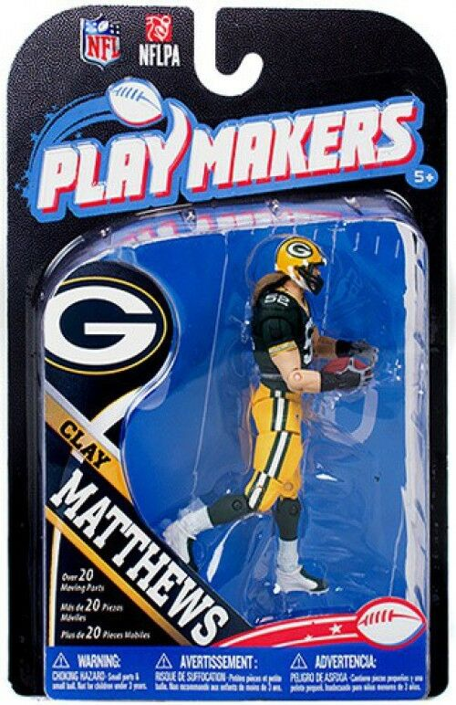 NFL Grün Bay Packers Playmakers Series 4 Clay Matthews Action Figure
