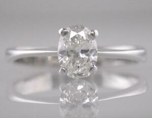 Diamond-Solitaire-Platinum-Engagement-Ring-Oval-Shape-0-50ct-Certificated-D-IF