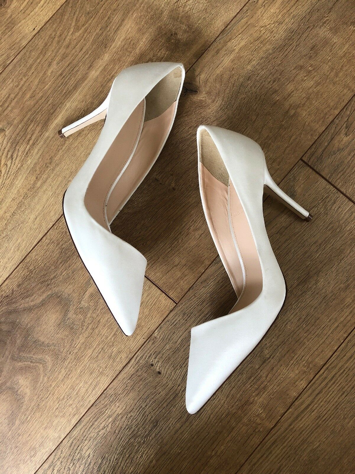 New Jcrew Elsie Elsie Elsie asymmetrical pumps in satin G0883 Size 7 Ivory Wedding shoes 490255